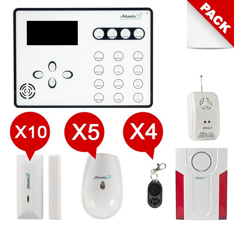 Alarme maison GSM sans fil  Atlantic'S ATEOS Kit Extra
