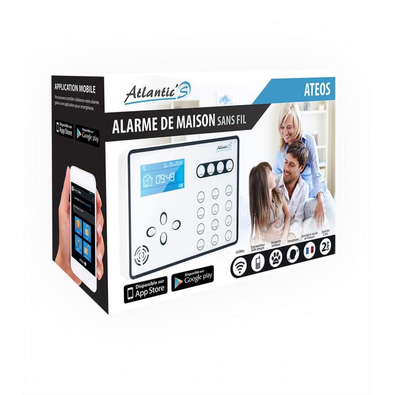 Alarme maison GSM sans fil  Atlantic'S ATEOS Kit 4