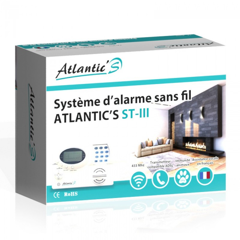 Pack Alarme sans fil Atlantic'S Kit 3
