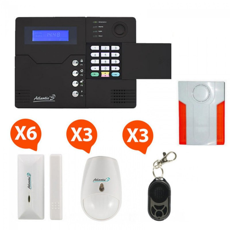 Pack Alarme sans fil GSM Atlantic'S Kit 5