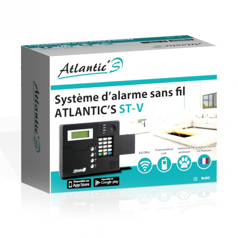 Pack Alarme sans fil GSM Atlantic'S Kit 8