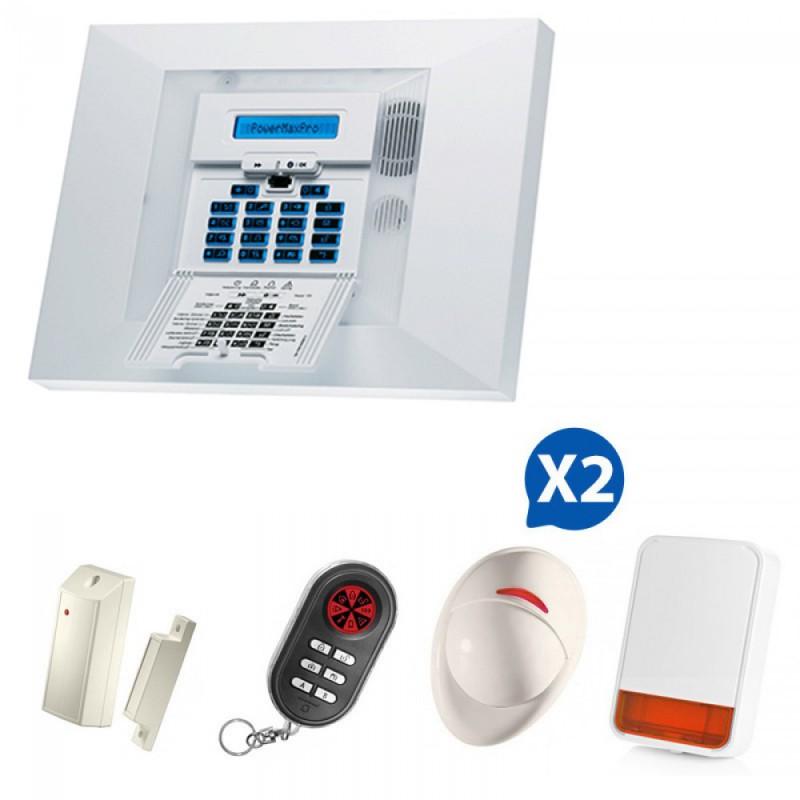 Alarme sans fil Visonic Powermax Pro Kit 2+
