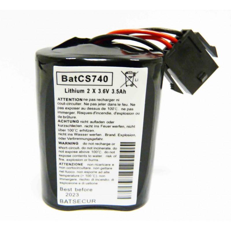 Pack de 2 batteries pour sirène d'alarme Visonic
