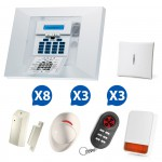 Kit 02 Alarme sans fil Visonic PowerMax Pro