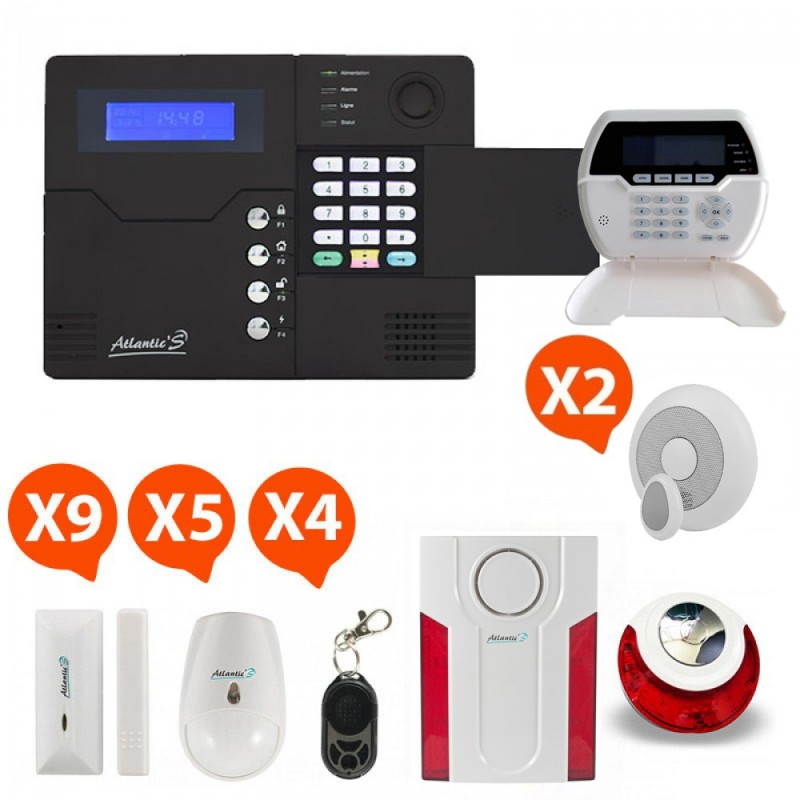 Pack Alarme sans fil GSM Atlantic'S Kit 10