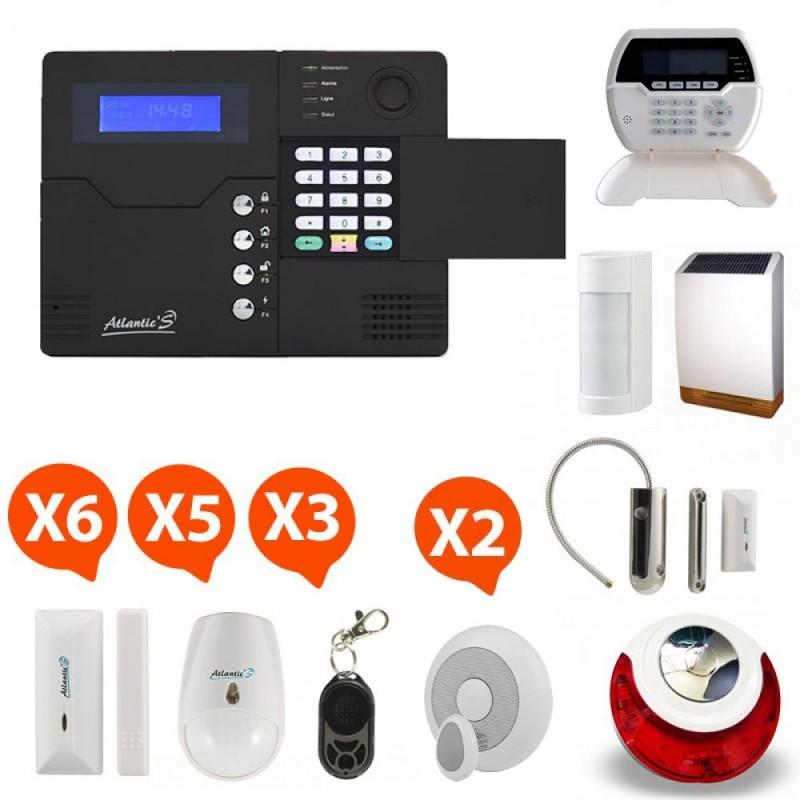 Pack alarme sans fil GSM Atlantic'S Kit 13